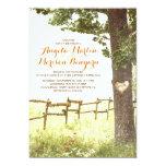 "rustic country heart tree wedding invitation 5"" x 7"" invitation card"