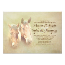 rustic country horse couple rehearsal dinner invitation