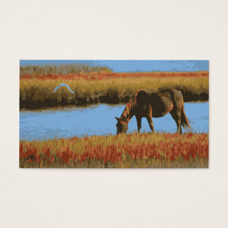 Rustic Country Horse Grazing Business Cards