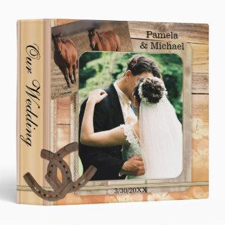 Rustic Country Horses Wedding Album Binder