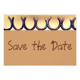Rustic Country Horseshoe Save the Date Cards Personalized Announcement