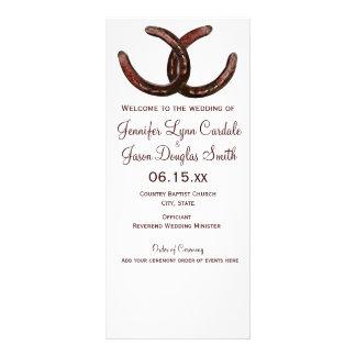 Rustic Country Horseshoe Wedding Programs
