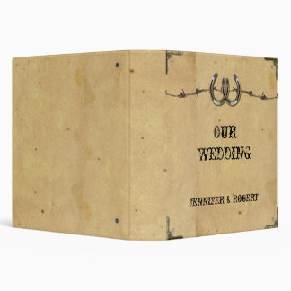 Rustic Country Horseshoes and Barbed Wire  Album Binder