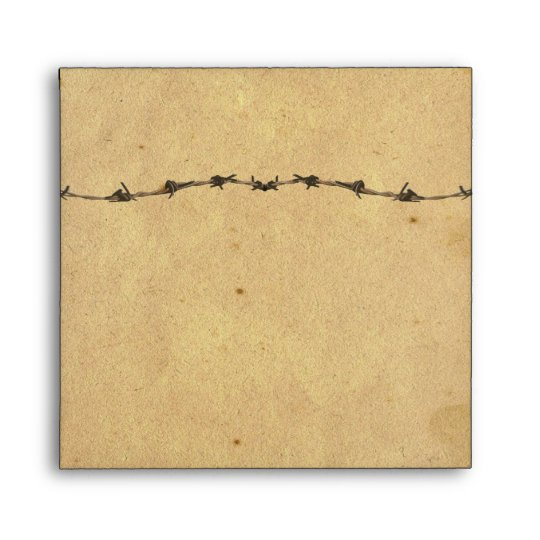 Rustic Country Horseshoes Barbed Wire Envelope