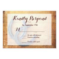 Rustic Country Horseshoes Wedding RSVP Cards Announcement (<em>$2.17</em>)