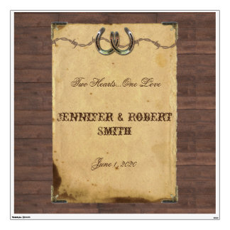 Rustic Country Horseshoes Wedding Wall Cling Wall Sticker