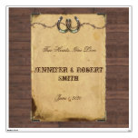 Rustic Country Horseshoes Wedding Wall Cling Room Graphic