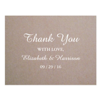 Rustic Country Kraft Wedding Thank You Postcard