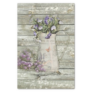 rustic country lavender primitive barn wood tissue paper