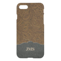 Rustic Country Leather Look Personalized iPhone 8/7 Case