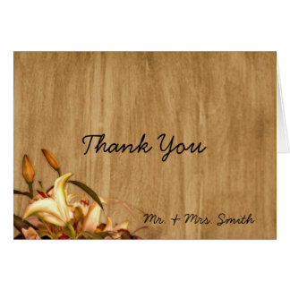 Rustic Country Lily Watercolor Thank You card