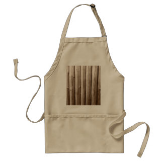 Rustic Country Log Cabin Distressed Vintage Wood Adult Apron
