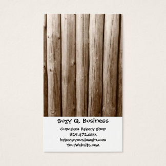 Rustic Country Log Cabin Distressed Vintage Wood Business Card