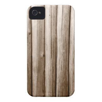 Rustic Country Log Cabin Distressed Vintage Wood iPhone 4 Case