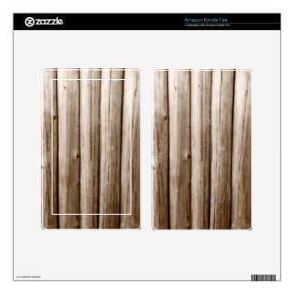 Rustic Country Log Cabin Distressed Vintage Wood Decals For Kindle Fire