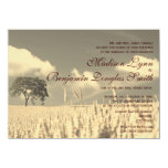 Rustic Country Lone Tree Wedding Invitations Custom Invitation