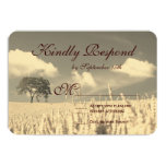 Rustic Country Lone Tree Wedding RSVP Cards Personalized Announcements