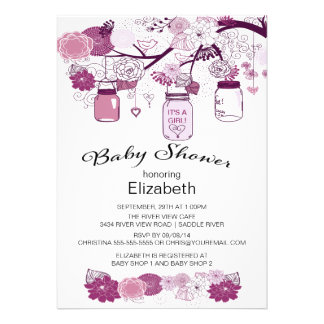 Rustic Country Mason Jar Baby Shower Invite