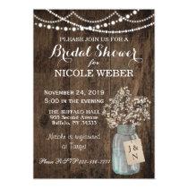 Rustic Country Mason Jar Barn Bridal Shower Invite