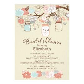 Mason Jar Bridal Shower Invitations - Rustic Country Wedding ...