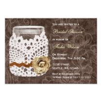rustic country mason jar Bridal Shower Invitation