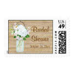 Rustic Country Mason Jar Flowers Sunflower Hanging Stamp