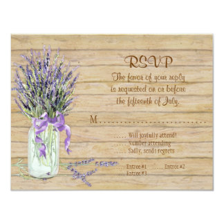 Rustic Country Mason Jar Flowers White Hydrangeas Invitation