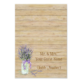 Rustic Country Mason Jar French Lavender Bouquet Card