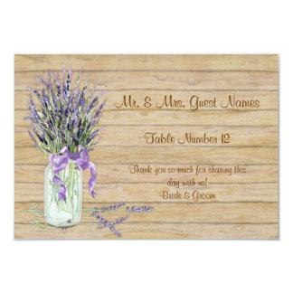 Rustic Country Mason Jar French Lavender Bouquet Custom Invite