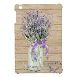 Rustic Country Mason Jar French Lavender Bouquet iPad Mini Case