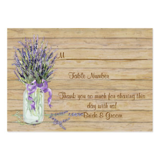 Rustic Country Mason Jar French Lavender Bouquet Large Business Card