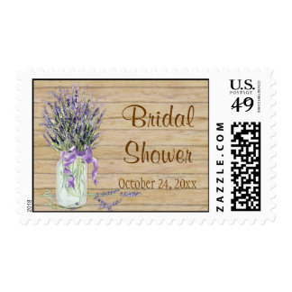 Rustic Country Mason Jar French Lavender Bouquet Postage