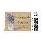 Rustic Country Mason Jar French Lavender Bouquet Stamp