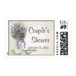 Rustic Country Mason Jar Lace n Lavender Floral Postage Stamps