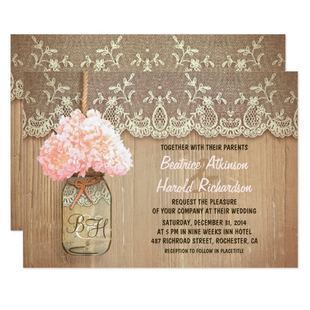 mason jar wedding invitations  announcements  zazzle, Wedding invitations