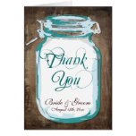 Rustic Country Mason Jar Wedding Thank You Cards