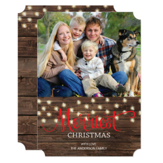 Rustic Country Merry Christmas Photo Card