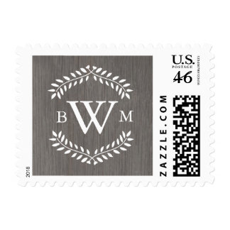 Rustic Country Monogram Postage Stamps