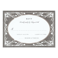 Rustic Country Monogram Wedding RSVP Card