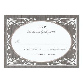Rustic Country Monogram Wedding RSVP Card