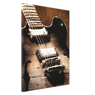 Rustic Country Music Guitar Canvas Print