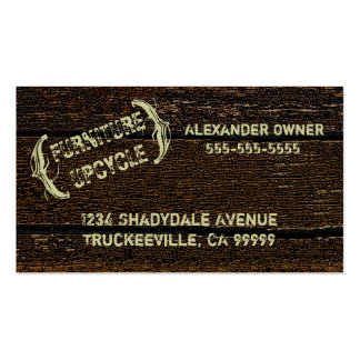 Rustic Country Old Wood Look Business Card