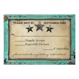 Rustic Country Parchment Paper RSVP Card