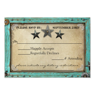 """Rustic Country Parchment Paper RSVP Card 3.5"""" X 5"""" Invitation Card"""