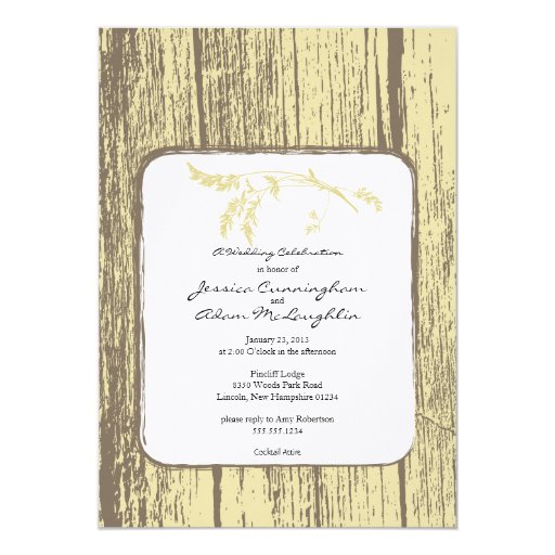 Rustic Country Party Invitation