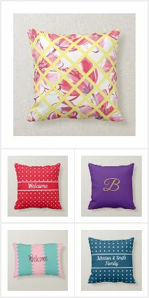 Rustic, Country Pattern, Cotton Fabric Pillows