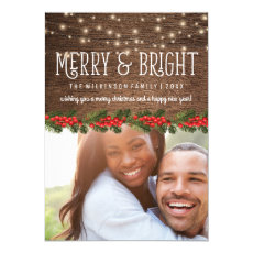Rustic Country Photo Christmas Holiday Greeting Cards