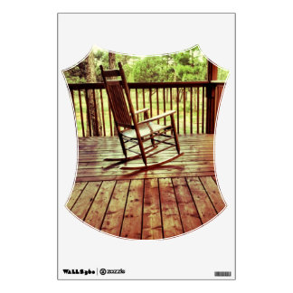 Rustic Country Porch Rocking Chair Room Wall Decal