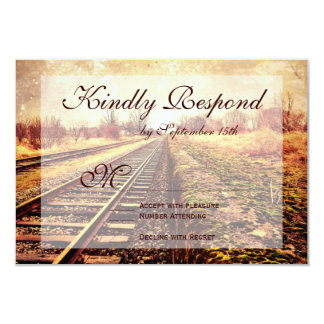 Rustic Country Railroad Tracks Wedding RSVP Cards