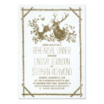 Rustic country rehearsal dinner invites with deer